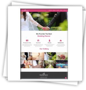 Wedding Planner - Templates HTML5